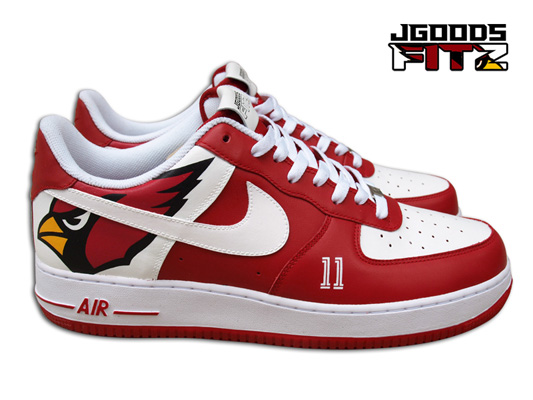 Arizona Cardinals Custom Nike Air Force 1 for Larry Fitzgerald by ...