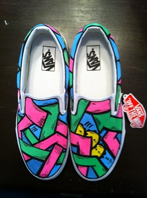 9 New Custom Hand Painted Vans Sneakers by Sloth abdb71f37