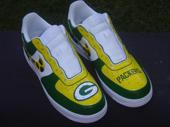 green bay packers nike air force ones