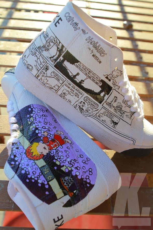 Calvin and Hobbes Custom Nike Blazer