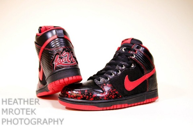 Machinegunkelly Lace Up Nike Dunk Shoes By Ground Breaker