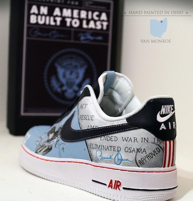 Mens Air Jordan 2010 24 Barack Obama White Red shoes