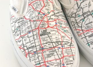 California LA Map shoes