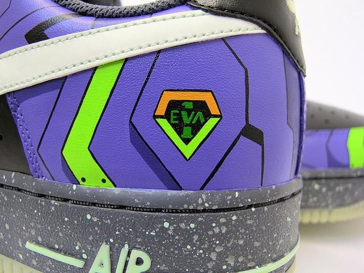 463df441614d Nike Air Force 1 Evangelion Unit-1 Custom Shoes by  SekureD