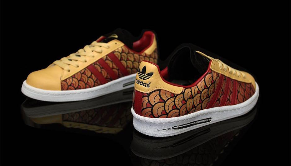 detailed look 5834f 79d6f Bruce Lee adidas Campus 80s Custom by Benji Blunt