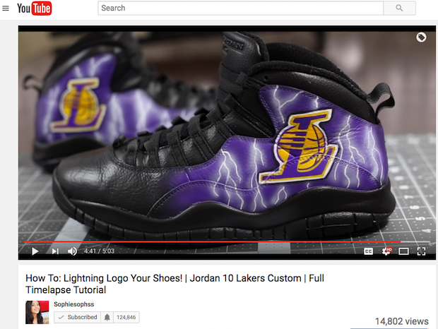 How To Paint Lightning on Shoes Customize