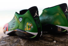 Oregon Ducks Air Jordan 14 Custom Shoes