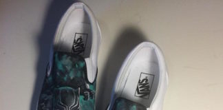 custom black panther shoes