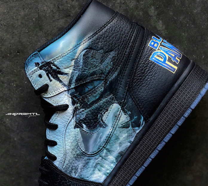 Black Panther Custom Shoes Air Jordan 1