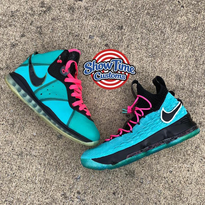Nike Lebron 15 South Beach by Show Time Customs